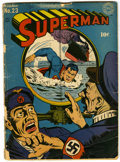 """Golden Age (1938-1955):Superhero, Superman #23 (DC, 1943) Condition: GD. Overstreet """"Classic"""" Jack Burnley Periscope cover. Interior artists include John Sike..."""