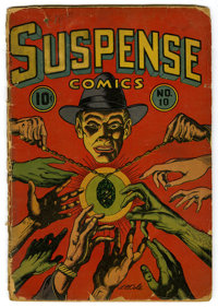 Suspense Comics #10 (Continental Magazines, 1945) Condition: FR. L.B. Cole cover. Rudy Palais art. Overstreet 2006 GD 2...