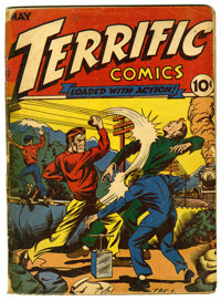 Terrific Comics #3 (Continental Magazines, 1944) Condition: GD. Diana becomes Boomerang's costumed aide. L.B. Cole cover...
