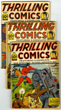 Golden Age (1938-1955):Adventure, Thrilling Comics #23, 29, and 34 Group (Better Publications, 1941-43) Condition: Average GD+. Group of three books contains ... (Total: 3 Comic Books)