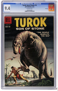 Turok #15 File Copy (Dell, 1959) CGC NM 9.4 Off-white pages. Overstreet 2006 NM- 9.2 value = $170. CGC census 5/06: 3 in...