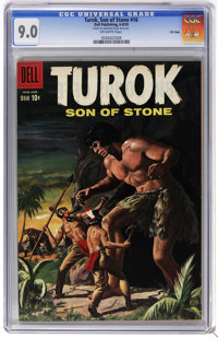 Turok #16 File Copy (Dell, 1959) CGC VF/NM 9.0 Off-white pages. Painted cover. Bob Fujitani art. Overstreet 2006 VF/NM 9...