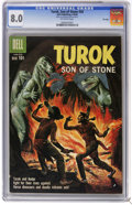 Silver Age (1956-1969):Adventure, Turok #20 File Copy (Dell, 1960) CGC VF 8.0 Off-white pages. Overstreet 2006 VF 8.0 value = $79. CGC census 5/06: 1 in 8.0, ...