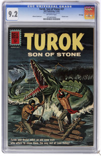 Turok #27 File Copy (Dell, 1962) CGC NM- 9.2 Off-white pages. Painted cover. Alberto Gioletti art. Overstreet 2006 NM- 9...