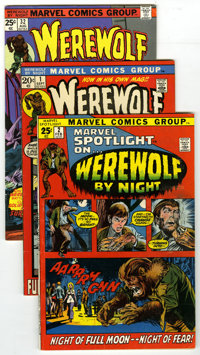 Werewolf by Night Group (Marvel, 1972-75) Condition: Average VG/FN. Included are Werewolf By Night #1, 2, and 32, and...