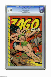Zago #4 (Fox Features Syndicate, 1949) CGC FN/VF 7.0 Cream to off-white pages. Matt Baker cover. Overstreet 2006 FN 6.0...