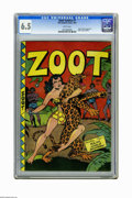 Golden Age (1938-1955):Adventure, Zoot Comics #7 (Fox Features Syndicate, 1947) CGC FN+ 6.5 White pages. Origin and first appearance of Rulah, Jungle Goddess....