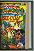 Bronze Age (1970-1979):Superhero, Captain America #161-180 Bound Volume (Marvel, 1973-74). A four-issue X-Men crossover is featured in this Captain America...
