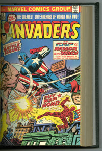 The Invaders #1-10 Bound Volume (Marvel, 1975-76). Features copies of The Invaders #1, 2 (first appearance of Brain-Drai...