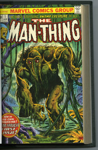 Man-Thing #1-22 Bound Volume (Marvel, 1974-75). Howard the Duck makes several appearances in this Man-Thing bound volume...