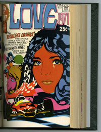 Super DC Giant Bound Volume (Marvel, 1970-71). Features copies of Super DC Giant #S-13 (Binky); S-14 (Top Guns of the We...