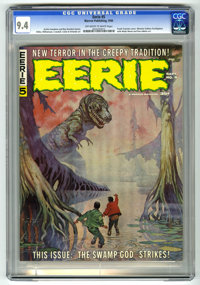 Eerie #5 (Warren, 1966) CGC NM 9.4 Off-white to white pages. Frank Frazetta cover. Steve Ditko, Gene Colan, Reed Crandal...