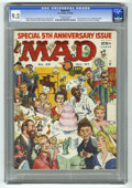 Magazines:Mad, Mad #35 (EC, 1957) CGC NM- 9.2 Off-white pages. Fifth anniversaryissue. Cinderella parody. Wraparound cover by Norman Mingo...