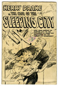 Original Comic Art:Miscellaneous, Kerry Drake in the Case of the Sleeping City Pre-Production Mock-Up(Harvey, 1951). Here's something unusual -- a mock-up of...