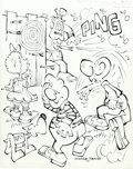 Original Comic Art:Covers, George Baker - Little Sad Sack #2 Cover Original Art (Harvey,1964). A young Sad Sack targets the wrong guy in his game of d...