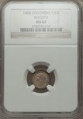 Colombia, Colombia: Republic 1/2 Decimo 1868 MS64 NGC,...