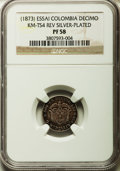 Colombia, Colombia: Republic Proof Decimo Essai in silver ND (1873) PR58NGC,...