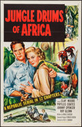 """Movie Posters:Serial, Jungle Drums of Africa & Other Lot (Republic, 1952). One Sheets (2) (27"""" X 41"""") Flat Folded. Serial.. ... (Total: 2 Items)"""