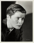 Movie/TV Memorabilia:Photos, A Katharine Hepburn Black and White Photograph by Ernest A.Bachrach, Circa 1935....