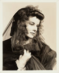 Movie/TV Memorabilia:Photos, A Katharine Hepburn Black and White Photograph by Florence Vandamm,1937....