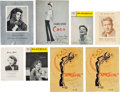 Movie/TV Memorabilia:Autographs and Signed Items, A Katharine Hepburn-Related Group of Playbills and Programs,1930s-1960s....