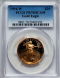 Modern Bullion Coins: , 1994-W G$25 Half-Ounce Gold Eagle PR70 Deep Cameo PCGS. PCGS Population (180). NGC Census: (592). Numismedia Wsl. Price fo...