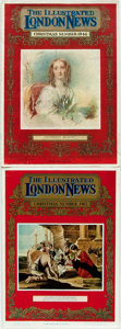 Books:Periodicals, [Periodical]. Two Illustrated London News Christmas Numbers. 1946, 1963. Folios. Original printed wrappers, with... (Total: 2 Items)