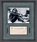 Music Memorabilia:Autographs and Signed Items, Beatles - John Lennon / Lennon Books Signed Check (1969)....