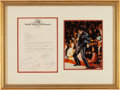 Music Memorabilia:Autographs and Signed Items, Elvis Presley and Love Me Tender Co-Stars Signed Letter To RCA Executive Steve Sholes (1956)....