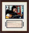 Music Memorabilia:Autographs and Signed Items, Beatles - George Harrison / Harrisongs Ltd. Signed Check (1972)....