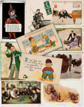 Miscellaneous:Postcards, [Postcards]. Group of Ten Miscellaneous Postcards. Ca. 1910. Mostare used. Some rubbing and soiling. Very good. From the ...