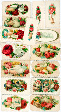 Miscellaneous:Ephemera, [Victorian Calling Cards]. Group of Fifteen Calling Cards. Ca.1890s. Most have floral patterns. Some mild soiling. Very goo...