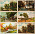 Miscellaneous:Postcards, [Post Cards]. Group of Eleven Postcards Depicting Pastoral Themes.Ca. 1915. Most are used. Some soiling and rubbing. Very g...