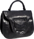 "Luxury Accessories:Bags, Nancy Gonzalez Black Crocodile Top Handle Bag. ExcellentCondition. 12"" Width x 11.5"" Height x 5"" Depth. ..."