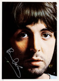 Music Memorabilia:Photos, Beatles - Paul McCartney Signed Color Image....