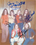 Music Memorabilia:Autographs and Signed Items, Runaways Signed Photograph, 1970s....