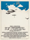 Music Memorabilia:Posters, New Orleans Pop Festival Poster (1969)....