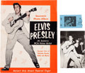 Music Memorabilia:Memorabilia, Elvis Presley Rare Concert Souvenir Program with Photocard andTicket Stub (1956).... (Total: 3 Items)
