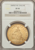 Chile, Chile: Republic gold 8 Escudos 1849 So-ML XF45 NGC,...
