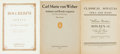 Books:Music & Sheet Music, [Sheet Music]. Three Piece Collection of Sheet Music. Variouspublishers and dates. Quarto. Some toning, chipping and creasi...