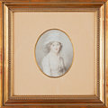 Fine Art - Painting, European:Antique  (Pre 1900), FRENCH SCHOOL (Early 19th Century). Portrait of Marianne MalletLe Fort. Watercolor on paper laid on card. 2-3/4 x 2 inc...