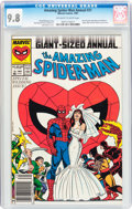 Modern Age (1980-Present):Superhero, The Amazing Spider-Man Annual #21 (Marvel, 1987) CGC NM/MT 9.8Off-white to white pages....