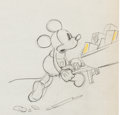 Animation Art:Production Drawing, Building a Building Mickey Mouse Production DrawingAnimation Art (Walt Disney, 1933)....