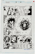 Original Comic Art:Splash Pages, Jim Starlin and Terry Austin Silver Surfer/Warlock:Resurrection #3 Half-Splash Page 16 Original Art (Marvel,1993...