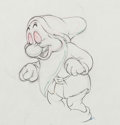 Animation Art:Production Drawing, Snow White and the Seven Dwarfs Bashful Production Drawing Animation Art (Walt Disney, 1937)....