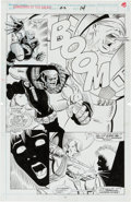 Original Comic Art:Splash Pages, Jim Valentino and Steve Montano Guardians of the Galaxy #22Splash Page 14 Original Art (Marvel, 1992)....