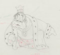 Animation Art:Production Drawing, The Brave Little Tailor King Production Drawing AnimationArt (Walt Disney, 1938)....