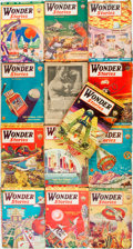 Books:Pulps, [Pulps]. Thirteen Issues of Wonder Stories. 1934-1935.Original printed wrappers. Tattered edges. Some loss to spine...(Total: 13 Items)