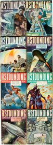 Books:Pulps, [Pulps]. Eight Issues of Astounding Science Fiction.1939-1940. Original printed wrappers. Tattered edges. Some dust...(Total: 8 Items)