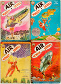 Books:Pulps, [Pulps]. Four Issues of Air Wonder Stories. 1930. Originalprinted wrappers. Tattered edges. Some dust staining. One...(Total: 4 Items)